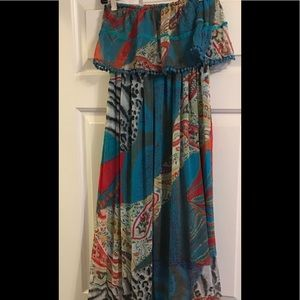 R Cinco Ranch Dresses - Long Strapless Dress